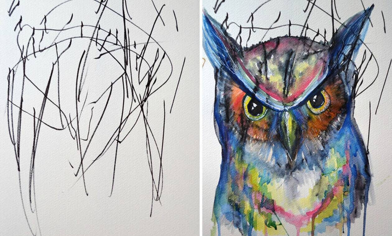 Mαμά μετατρέπει τα σχέδια της κόρης της σε υπέροχες ζωγραφιές