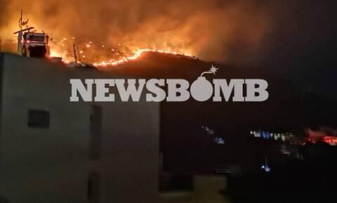 Φωτιά στο Πέραμα: Μία σύλληψη - Υπό έλεγχο οι εστίες μετά από τιτάνια μάχη με τις φλόγες