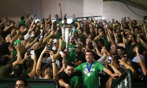 Παναθηναϊκή… τρέλα στο «Παύλος Γιαννακόπουλος» για το πρωτάθλημα (videos+photos)