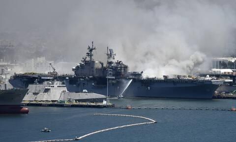 ΗΠΑ: Τους 21 έφτασαν οι τραυματίες από την έκρηξη και την πυρκαγιά σε πολεμικό πλοίο