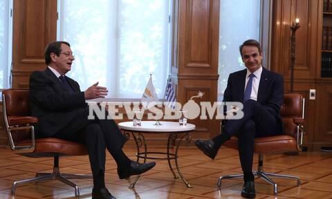 Aναστασιάδης στην Αθήνα: Οι συναντήσεις με Μητσοτάκη-Σακελλαροπούλου