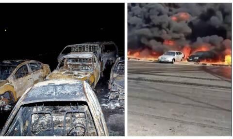 Έκρηξη σε αγωγό πετρελαίου στην Αίγυπτο: Συγκλονιστικές εικόνες στο Κάιρο