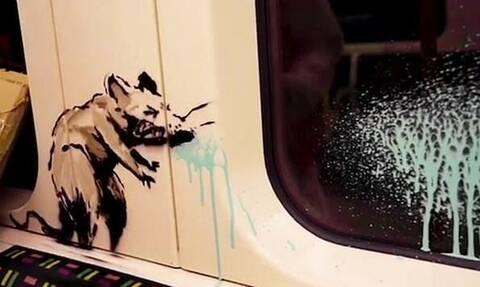 Banksy: Το νέο εντυπωσιακό έργο για τον κορονοϊό στο… μετρό του Λονδίνου