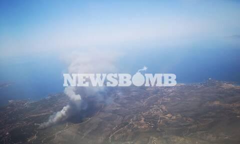 Μεγάλη δασική φωτιά ΤΩΡΑ στο Λαύριο - Επιχειρούν ισχυρές δυνάμεις