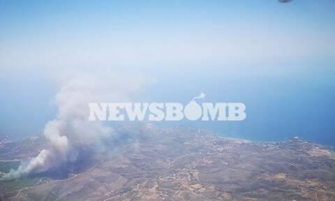 Φωτιά στο Λαύριο - Οι πρώτες εικόνες από την πυρκαγιά