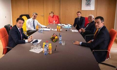 Σύνοδος Κορυφής: Νέα σύσκεψη Μητσοτάκη με Μέρκελ, Μακρόν και Κόντε