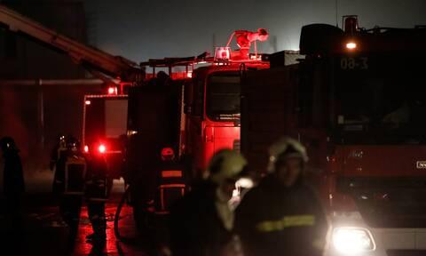 Μυτιλήνη: Μαίνεται η φωτιά κοντά στο μοναστήρι του Αγίου Ραφαήλ