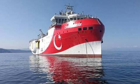 Στο λιμάνι της Αττάλειας ΤΏΡΑ το ORUC REIS: Χτυπάει κόκκινο η προπαγάνδα των Τούρκων