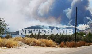 Из-за пожара в районе Коринфа эвакуированы три поселка