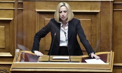 Γεννηματά για ελληνοτουρκικά: Συμβούλιο αρχηγών τώρα - Ζούμε κρίσιμες στιγμές