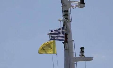 Σύγχυση με τη σημαία του Βυζαντίου σε πλοίο των αμερικανικών Ε.Δ. στην Αλεξανδρούπολη