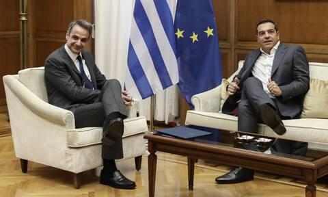 Μητσοτάκης-Τσίπρας: 1,5 ώρα συνάντησης, ακολούθησε η Γεννηματά