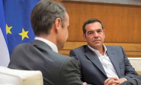 Σε βαρύ κλίμα η συνάντηση Μητσοτάκη - Τσίπρα για τα ελληνοτουρκικά
