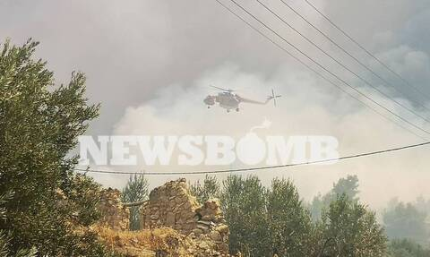 Φωτιά Κεχριές: Τραυματισμός πυροσβέστη στην φωτιά στην Κορινθία