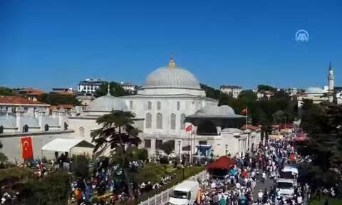 Αγία Σοφία: LIVE εικόνα έξω από το μνημείο - Σήμερα γίνεται τζαμί μετά από 86 χρόνια