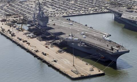 «Μήνυμα» στην Τουρκία: Το γιγαντιαίο «Αϊζενχάουερ» στην Κρήτη μαζί με 12 πολεμικά πλοία