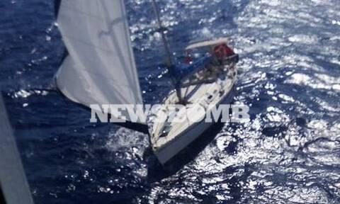 Το «Aqua Blue» διέσωσε επιβαίνοντες από ιστιοπλοϊκό που έπλεε ακυβέρνητο