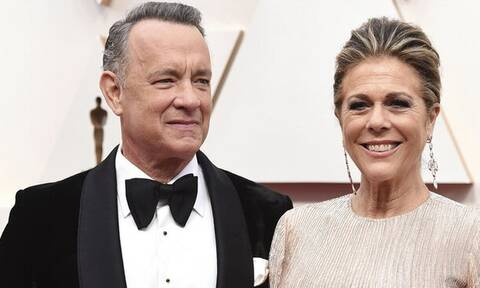 Το ζεύγος Μητσοτάκη ποζάρει μαζί με τον Tom Hanks και τη Rita Wilson