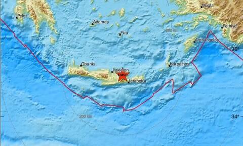 Σεισμός στο Ηράκλειο - Κοντά στα Μάλια το επίκεντρο