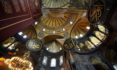 Αγιά Σοφιά: Εικόνες βεβήλωσης και προχειρότητας μετά τη μετατροπή της σε τζαμί