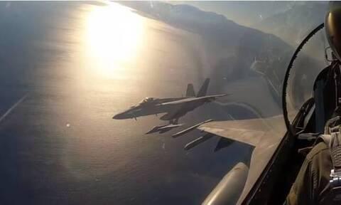 Έλληνες και Αμερικάνοι πιλότοι «έσκισαν» τους ουρανούς σε κοινή άσκηση νότια της Κρήτης