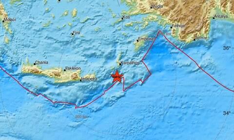 Σεισμός νότια της Καρπάθου (pics)