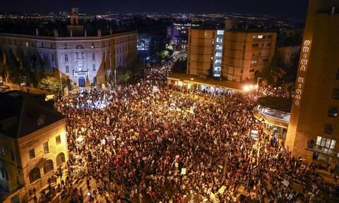Ισραήλ: Στους δρόμους χιλιάδες πολίτες για να διαδηλώσουν κατά του Νετανιάχου