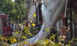 Πτώση αεροπλάνου στην Πρώτη Σερρών (pics&vids)