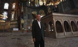 Δημοσκόπηση: Το τέλος του Ερντογάν - Τι λένε Έλληνες και Τούρκοι για την Αγιά Σοφιά
