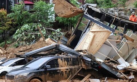 Νότια Κορέα: 13 νεκροί και ισάριθμοι αγνοούμενοι εξαιτίας πλημμυρών
