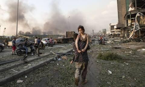 Βηρυτός: Εικόνες Βιβλικής Αποκάλυψης - Συντρίμμια και πτώματα παντού
