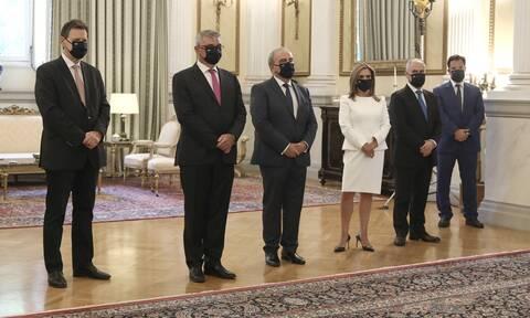 Ορκίστηκαν οι νέοι υπουργοί και υφυπουργοί