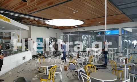 Κόρινθος: Βομβαρδισμένο τοπίο το εμπορικό κέντρο για να κλέψουν ΑΤΜ!