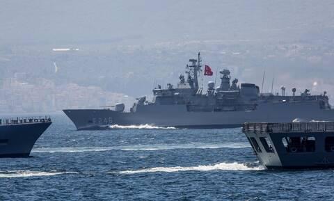 Εξοργισμένη η Τουρκία: Στέλνει ξανά το Στόλο μεταξύ Ρόδου και Καστελόριζου και... ανοίγει πυρ