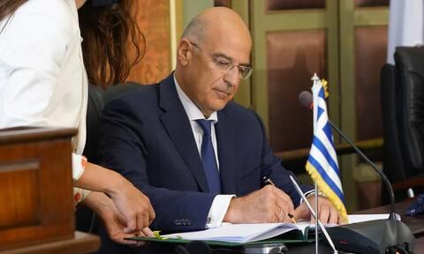 Δένδιας για ΑΟΖ: Άμεσα στη Βουλή η συμφωνία με την Αίγυπτο
