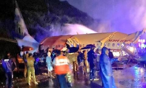Ινδία: Τουλάχιστον 16 νεκροί και 15 σοβαρά τραυματίες από τη συντριβή αεροσκάφους