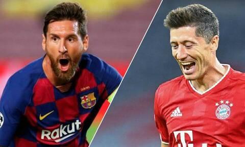Champions League: Μάχη Μέσι-Λεβαντόφσκι στους «8» - Τα ζευγάρια και το πρόγραμμα