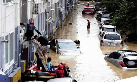 Νότια Κορέα: Ξεπέρασαν τους 20 οι νεκροί από τις καταρρακτώδεις βροχές