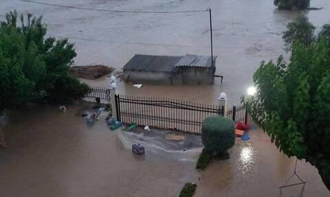Πλημμύρες Εύβοια: Διακοπή κυκλοφορίας προς Πολιτικά και Ψαχνά