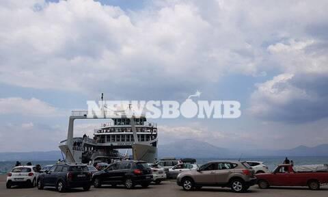 Πλημμύρες Εύβοια - Ουρές χιλιομέτρων στο λιμάνι του Ωρωπού (pics)