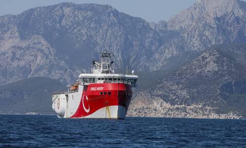 Oruc Reis: Έτσι είναι παρατεταγμένα τα ελληνικά πολεμικά πλοία στην περιοχή
