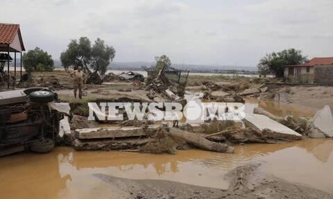 Εύβοια: Συγκλονιστικές εικόνες από τα Ψαχνά μετά την φονική πλημμύρα