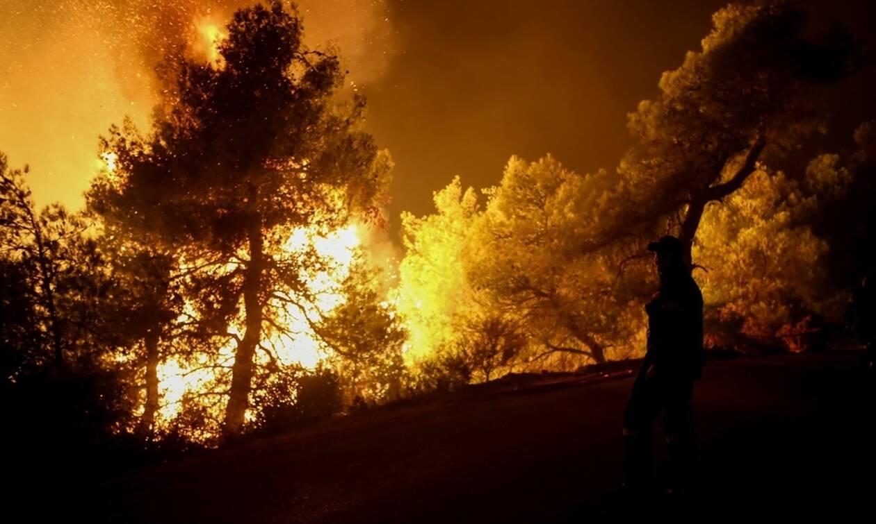 Φωτιά σε δασική έκταση στο Μονοκάμπι Ικαρίας