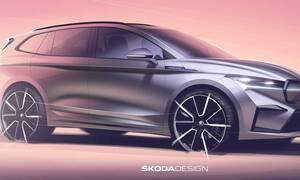 H Skoda αποκάλυψε νέα teasers για το ηλεκτρικό Enyaq iV