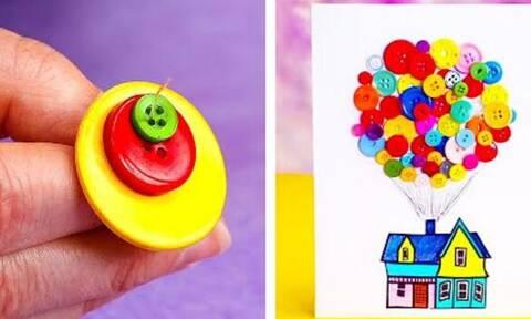 Δείτε τι μπορούν να φτιάξουν τα παιδιά με κουμπιά