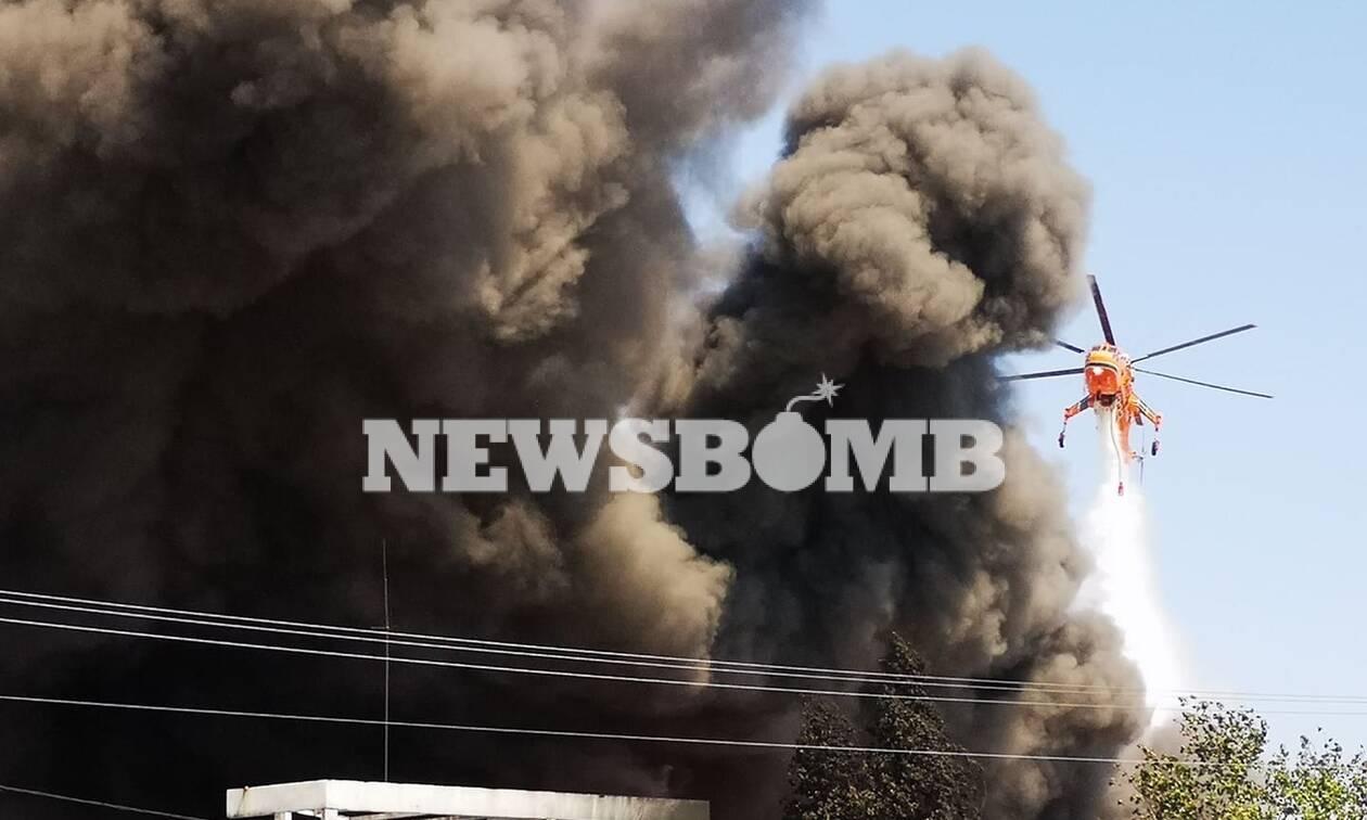 Φωτιά στη Μεταμόρφωση: Πυκνός τοξικός καπνός κάλυψε την Αθήνα - Εικόνες σοκ από τη μεγάλη πυρκαγιά