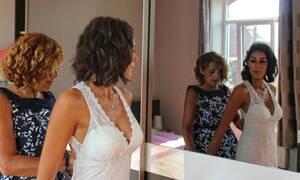 Νύφη πέταξε τη μάνα της εκτός γάμου - Την ξεφτίλισε (pics)