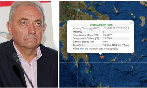 Σεισμός Ύδρα – Λέκκας στο Newsbomb.gr: Δεν εμπνέει ανησυχία – Παρακολουθούμε το φαινόμενο