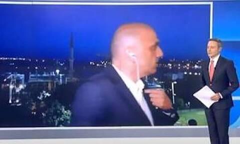 Τούρκοι διέκοψαν τον ανταποκριτή του ΣΚΑΙ ενώ έδινε ρεπορτάζ (vid)