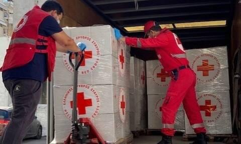 Ελληνικός Ερυθρός Σταυρός: Συνεχίζει τη συλλογή ανθρωπιστικού υλικού για το Λίβανο